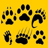 Footprints vector set - vinyl-ready illustration. — Stock vektor