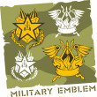 Military Emblem - Vector Set. — Stockvectorbeeld