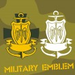 Military Emblem - Vector Set. — Stok Vektör