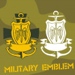 Royalty-Free Stock Imagem Vetorial: Military Emblem - Vector Set.