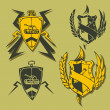 Military Emblem - Vector Set. — Stock Vector