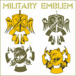 Military Emblem - Vector Set. - Stok Vektör