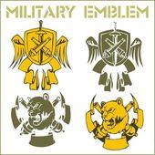 Military Emblem - Vector Set. — Stock Vector
