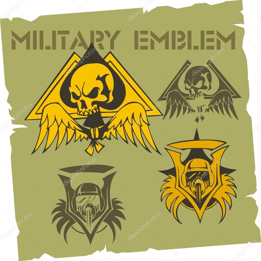 Military Emblem - Vector Set. — Stock Vector © Digital-Clipart ...