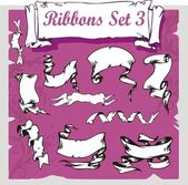 Ribbons Set - Vector illustration. — Stock Vector