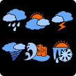 Seasons and weather- vector set. — Imagens vectoriais em stock