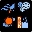 Seasons and weather- vector set. — Stock Vector #17177427
