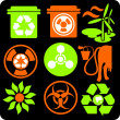 ECO - Green Life - vector set. — Image vectorielle