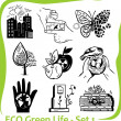 ECO - Green Life - vector set 1. — Stock Vector