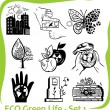 ECO - Green Life - vector set 1. — Imagen vectorial