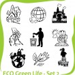 ECO - Green Life - vector set 2. — Stock Vector
