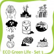 ECO - Green Life - vector set. — Stock vektor