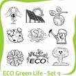 ECO - Green Life - vector set. — Stok Vektör