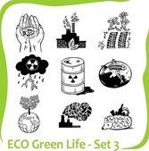 ECO - Green Life - vector set. — Stock Vector