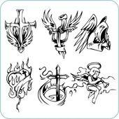 Religión cristiana - ilustración vectorial. — Vector de stock