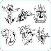 Religia chrześcijańska - ilustracja wektorowa. — Wektor stockowy