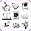 Royalty-Free Stock Vector Image: Items Office - business set. Vector illustration.