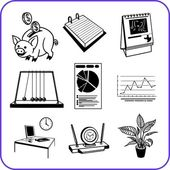 Items Office - business set. Vector illustration. — Stock Vector