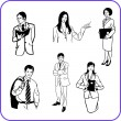 Royalty-Free Stock Vector Image: Office workers - business set.