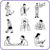 Trabalhadores de escritório - conjunto de negócios. — Vetorial Stock
