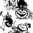 Happy Halloween - vector set. — Imagen vectorial
