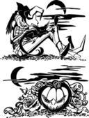 Happy Halloween - vector set. — Stock Vector