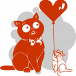 Valentines Day - vector illustration. — Stock Vector