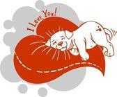 Valentinstag - vektor-illustration. — Stockvektor