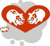Valentines Day - vector illustration. — Stock Vector