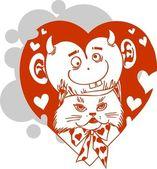 День Святого Валентина - векторные иллюстрации. — Cтоковый вектор