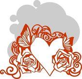 Alla hjärtans dag - vektor illustration. — Stockvektor