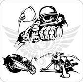 Vector conjunto - símbolo de la bicicleta. — Vector de stock
