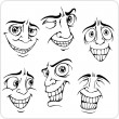 Positive emotions - vector set. — Stock Vector