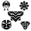 Northwest Art - masks. Vector set. — Stock Vector