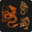 chinese dragons - vector set. — Stock Vector