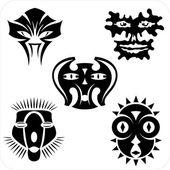 Masks - Vector set. — Stock Vector