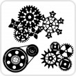 Gear Background Design - vector set. — Stock vektor