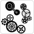Gear Background Design - vector set. — 图库矢量图片