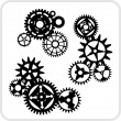 Gear Background Design - vector set. — Imagens vectoriais em stock
