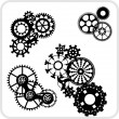 Gear Background Design - vector set. — Image vectorielle
