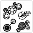 Gear Background Design - vector set. — ベクター素材ストック