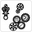 Gear Background Design - vector set. — Stockvektor