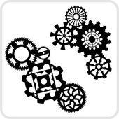 редукторы фона дизайн - векторный набор. — Cтоковый вектор