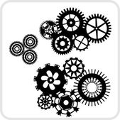 Gear Background Design - vector set. — Stock Vector