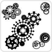Progetto sfondo gear - set vettoriale. — Vettoriale Stock