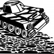 Tanks, armored vehicles - Vector illustration. — Stock Vector