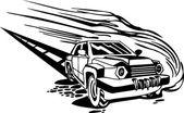 Voiture de course. illustration vectorielle. — Vecteur