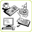 Business and office. Vector set. — Stok Vektör