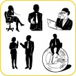 Managers and office. Vector set. — Image vectorielle