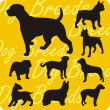 Silhouettes of Dogs - vector set. — Image vectorielle